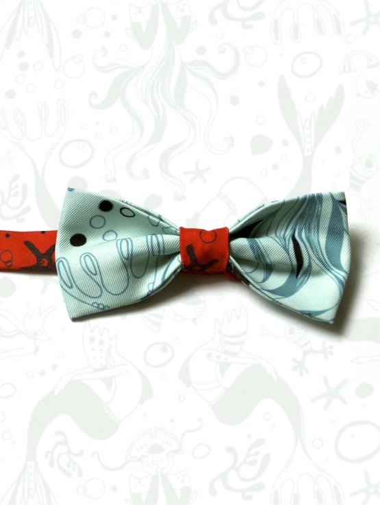Pajarita con estampado de labruja y confección artesanal