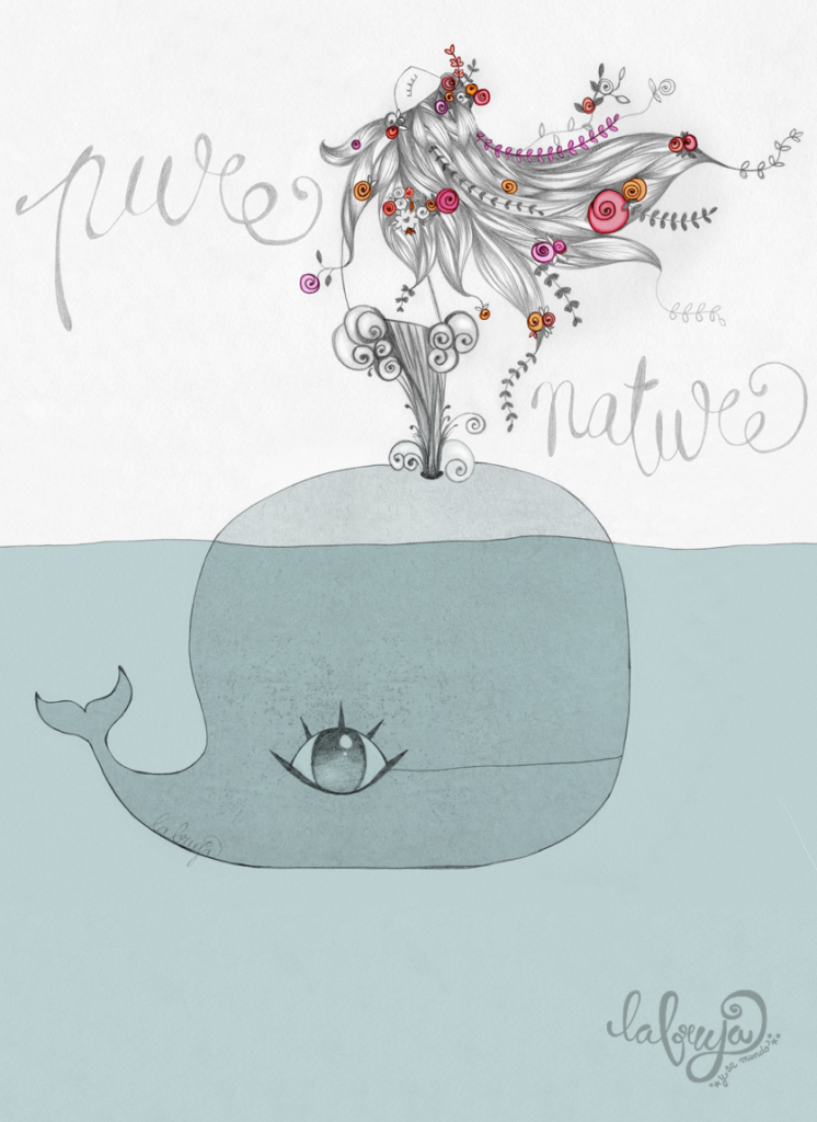 ilustración con grafito y retoque digital