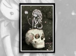 Ilustración digital de labruja