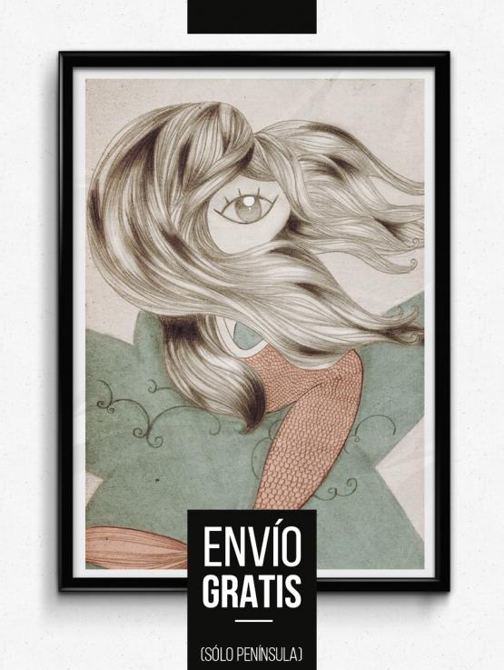 Ilustración realizada con grafito y tratamiento digital del color. labruja