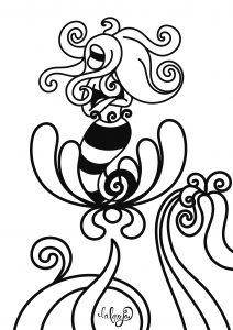 ilustración para colorear